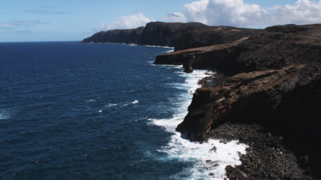Following the coastline of Molokai
