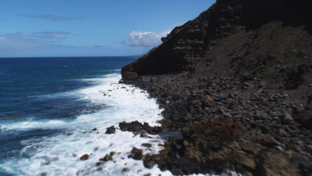 Following the lower coastline of Molokai