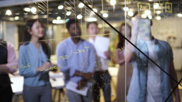 nach dem fortschritt ihres projekts - coworking space stock-videos und b-roll-filmmaterial