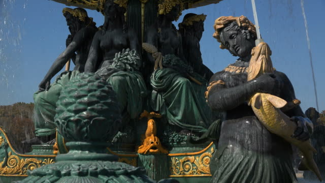 Fontaine des Fleves at Place de la Concorde and Madeleine, Paris, France, Europe