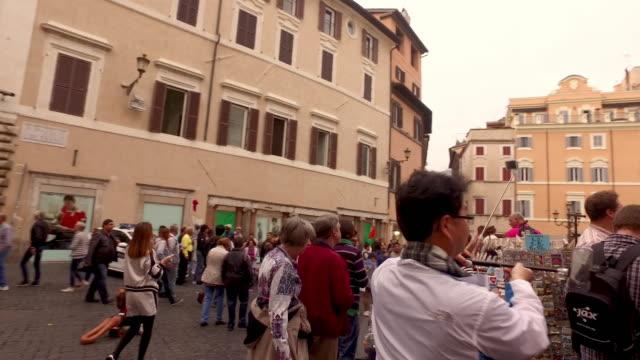 fontana di trevi landmark of rome - baroque stock videos & royalty-free footage