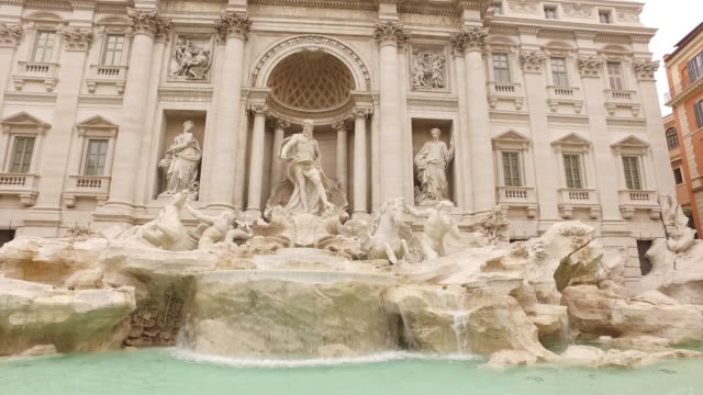 fontana di trevi landmark of rome - sculpture stock videos & royalty-free footage
