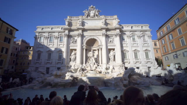 fontana di trevi,  rome, italy - city break stock videos and b-roll footage