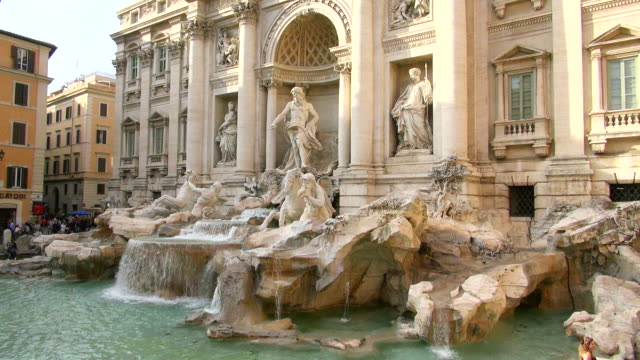 ms fontana di trevi / rome, latium, italy - female likeness stock videos & royalty-free footage
