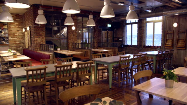 food and drinks establishment with a traditional modern twist - bar drink establishment stock videos and b-roll footage