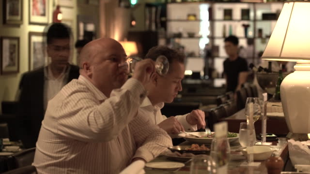 """food at """"ola"""" cocina del mar restaurant at marina bay financial centre in singapore on thursday june 7 2018 - food styling stock videos & royalty-free footage"""