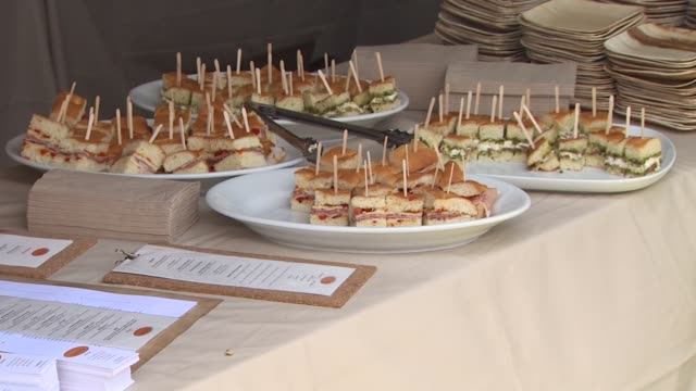 food at the 21st annual 'a time for heroes' celebrity picnic benefit at los angeles ca - a time for heroes stock videos & royalty-free footage
