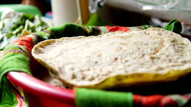 food being prepared - tortilla flatbread stock videos & royalty-free footage
