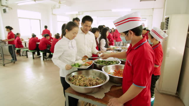 MS PAN Food being served at cafeteria / Shenzhen, Guangdong, China