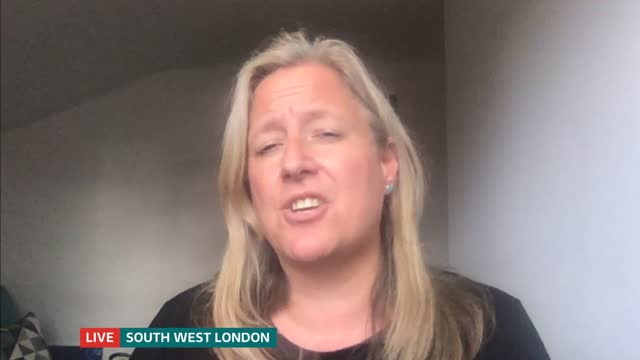food charities launch christmas appeal england london int emma revie live interview via internet sot / gir split screen reporter / revie - itv lunchtime news stock videos & royalty-free footage