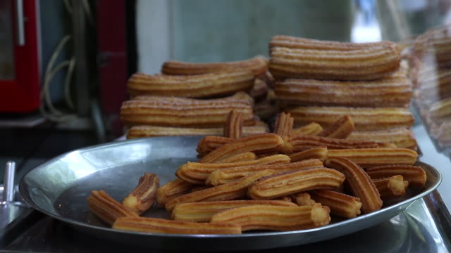 food, churros - churro stock videos & royalty-free footage