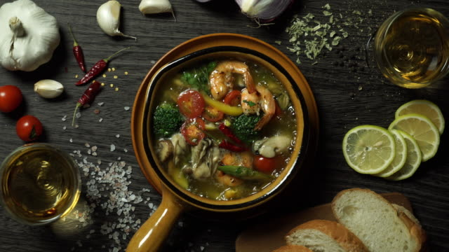 food cinemagraph - ristorante video stock e b–roll