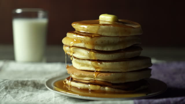 food cinemagraph - pancake stock videos & royalty-free footage