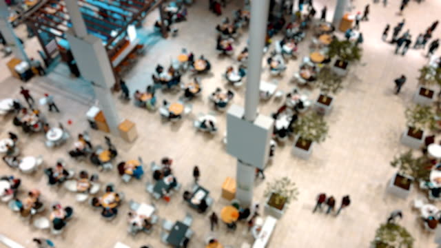 food court on a shopping mall - food court stock videos and b-roll footage