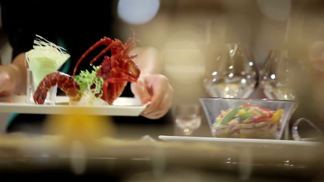 food from the hotel - seafood stock videos & royalty-free footage