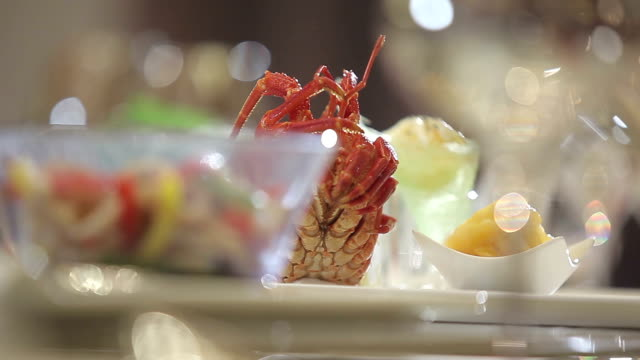 food from the hotel - lobster seafood stock videos and b-roll footage