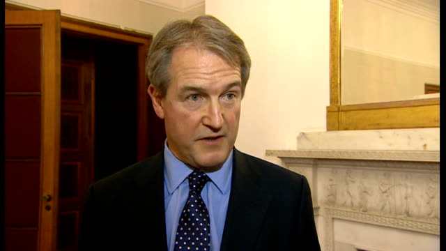 horse meat contamination police raid uk processing plants england london int owen paterson mp interview sot it is absolutely shocking that we have... - owen paterson stock videos and b-roll footage
