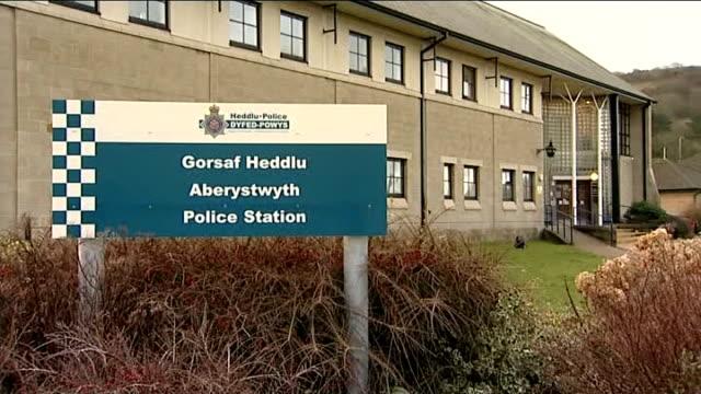 Horse meat crisis Aberystwyth Police Station GVs WALES Aberystwyth EXT GVs Aberystwyth police station / GVs sign outside / GVs entrance / windows /...