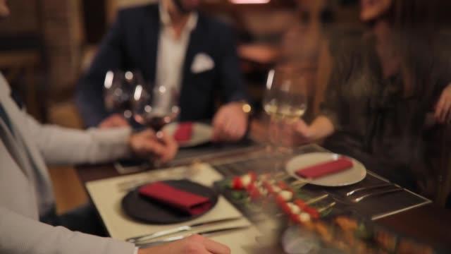 Food in luxury restaurant