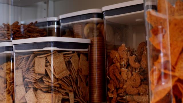 food in pantry - snack stock videos & royalty-free footage