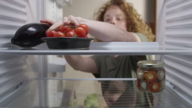 food in the refrigerator - refrigerator stock videos and b-roll footage