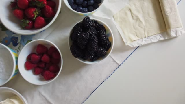 food ingrediend on the table - fruit bowl stock videos & royalty-free footage