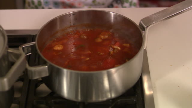 food on the stove stockholm sweden. - お玉点の映像素材/bロール