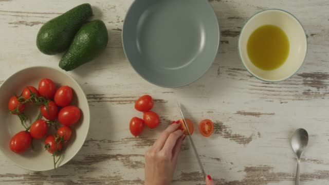 food preparation - cherry tomato stock videos & royalty-free footage