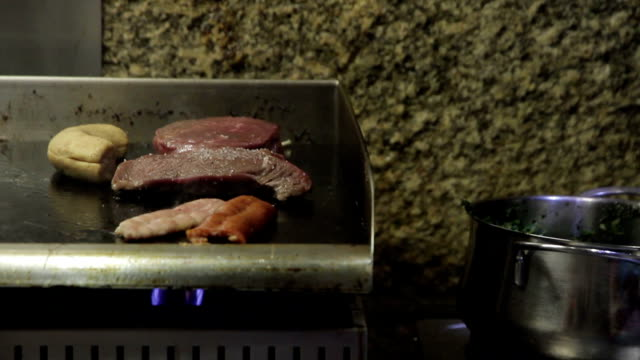 food restaurant beaf - shiso stock videos & royalty-free footage