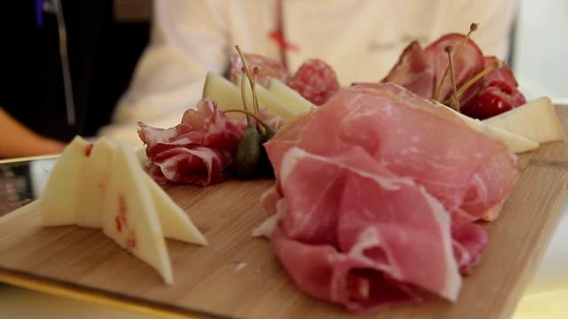 Food restaurant ham chesse