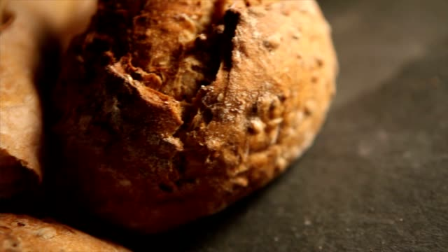 food, rustic bread   fo - loaf of bread stock videos and b-roll footage