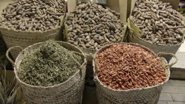food, sharia el souk, aswan, egypt - egypt stock videos & royalty-free footage