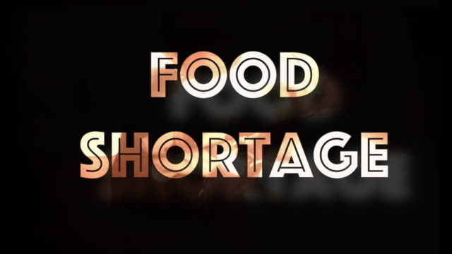 food shortage crisis concept computer graphic - shaking stock videos & royalty-free footage