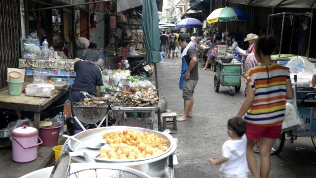 Food stall at street market