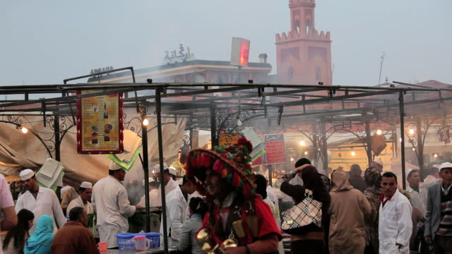 Food Stalls in the Djemma El- Fna Square, Marrakech, Morocco, Africa