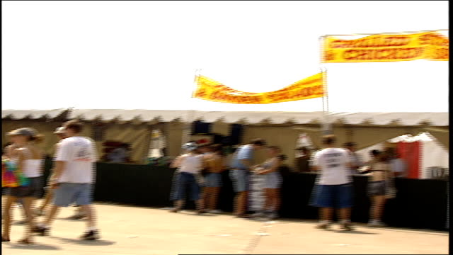 food stands and signs at woodstock '99 - 1999 stock videos & royalty-free footage