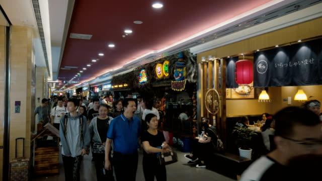 vidéos et rushes de food street in the mall,xi'an,china. - economy