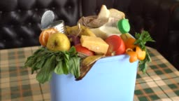 Food waste in Trash Can. Food Waste is an Urgent Global Problem