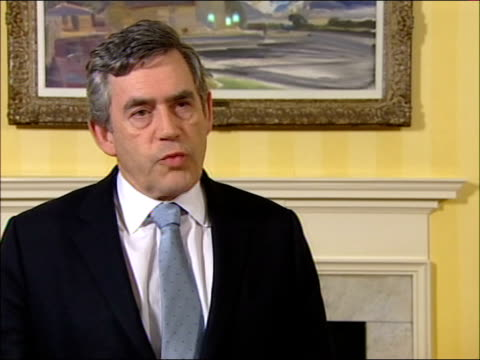foot and mouth disease: new outbreak in surrey: statement by gordon brown; england: london: downing street: int gordon brown mp interview sot - i... - mp stock-videos und b-roll-filmmaterial