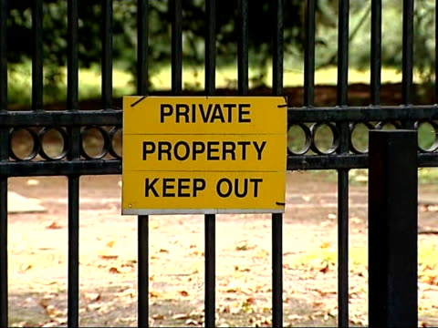 views of surrey farm where new outbreak confirmed england surrey egham ext yellow foot dip tub / disinfectant inside foot dip / police van parked... - keep out sign stock videos & royalty-free footage