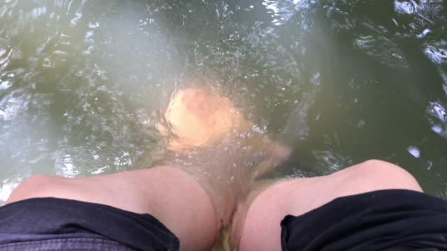 Foot bath at a hot spring
