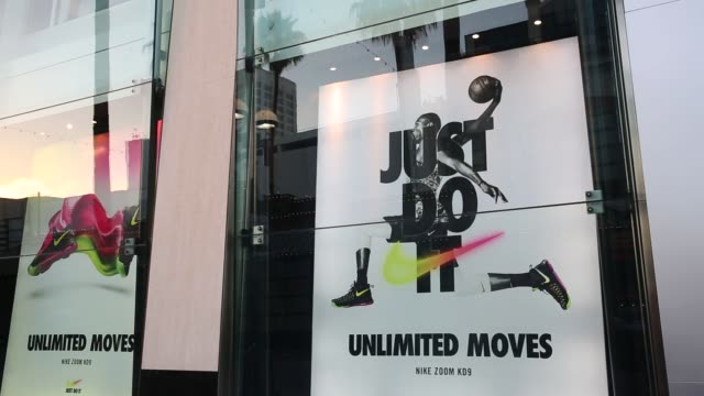 Foot Locker Inc signage is displayed outside of a store on the Third Street Promenade in Santa Monica California US on Tuesday August 16 2016 Shots...
