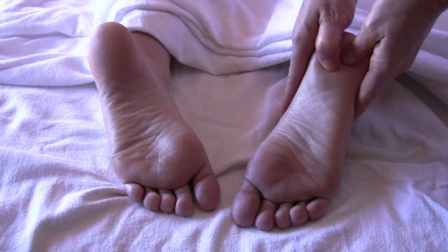 foot massage - massage room stock videos & royalty-free footage
