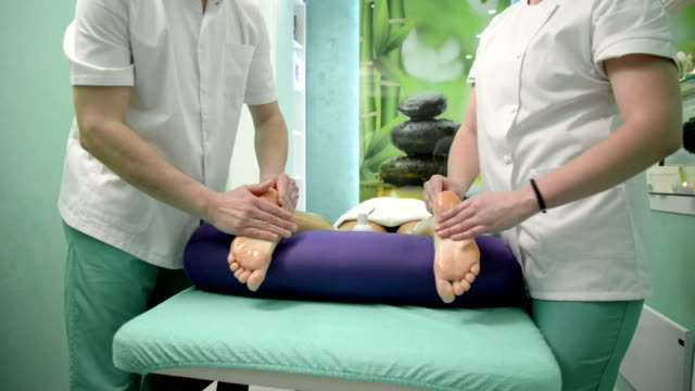 foot massage - toe stock videos & royalty-free footage