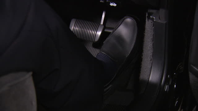 foot pressing gas pedal, japan - accelerator pedal stock videos & royalty-free footage