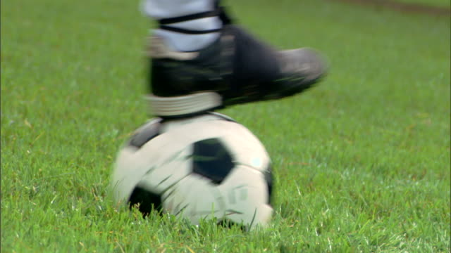 Foot with soccer ball