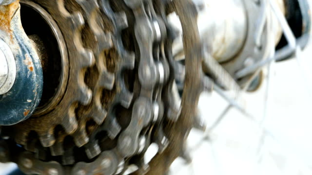 4k footage: close-up of bicycle gears - cog stock videos & royalty-free footage