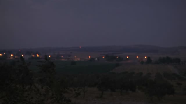 Footage dated on August 24 2016 in Turkey's Gaziantep province near Syrian border shows that Turkish military tanks and howitzers early Wednesday...