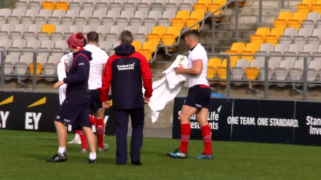 Footage from a British and Irish Lions training session on June 30 as they completed preparations for Saturday's second Test against New Zealand in...
