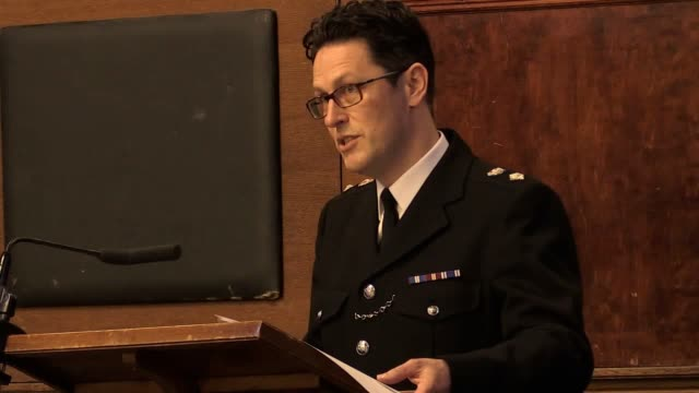 Footage from a Commendation Ceremony to recognise the actions of British Transport Police officers and rail staff following the terrorist attack at...
